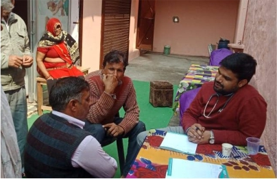 Tulip Hospital organized a free health check-up camp in village Manaoli