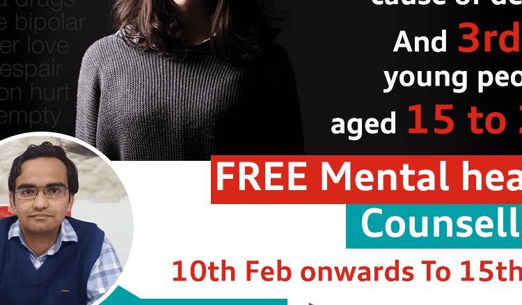Tulip Hospital organizing a FREE Mental health Counselling from 10th Feb onwards To 15th Feb 2020.